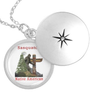 sasquatch products silver plated necklace