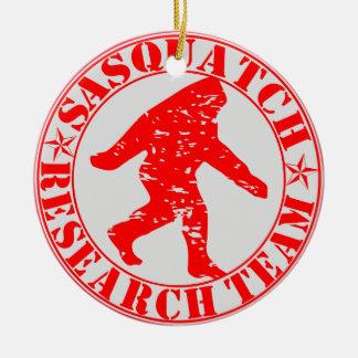 Sasquatch Research Team Round Ceramic Decoration