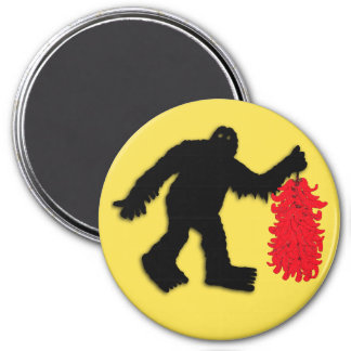 Sasquatch Sighted in Hatch, New Mexico 7.5 Cm Round Magnet