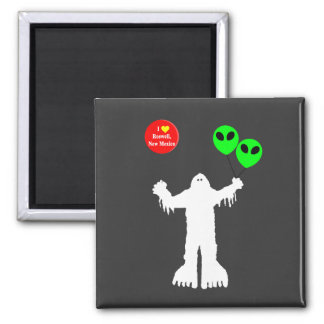 Sasquatch Sighted Roswell, New Mexico Square Magnet