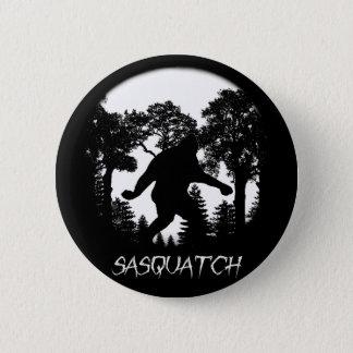 Sasquatch Silhouette 6 Cm Round Badge