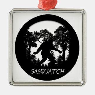 Sasquatch Silhouette Metal Ornament