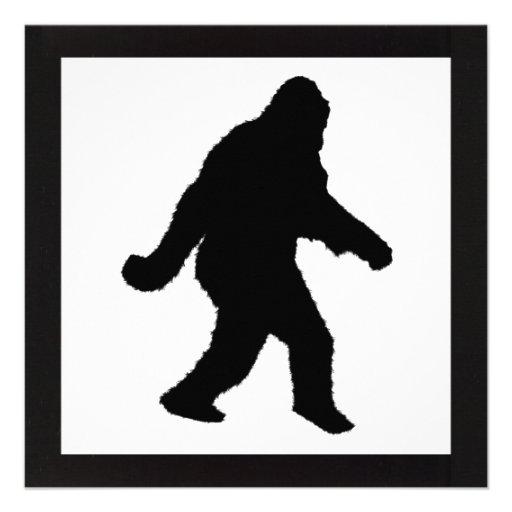 Sasquatch Squatchin' Silhouette Custom Invitations