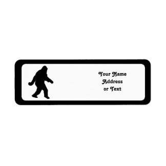 Sasquatch Squatchin' Silhouette Return Address Label