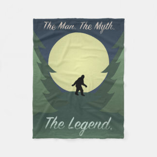 "Sasquatch ""The Man The Myth The Legend"" Blanket"