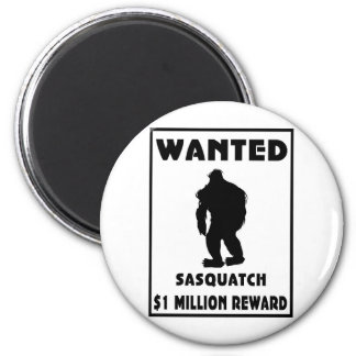 Sasquatch Wanted Poster 6 Cm Round Magnet