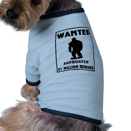 Sasquatch Wanted Poster Doggie Tee Shirt