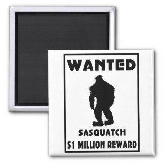 Sasquatch Wanted Poster Fridge Magnets