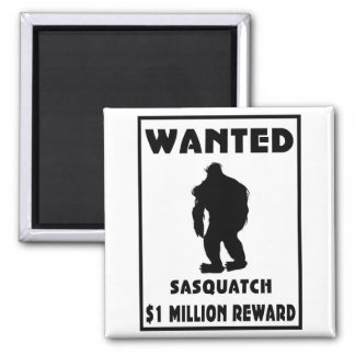 Sasquatch Wanted Poster Square Magnet