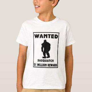 Sasquatch Wanted Poster T-shirts