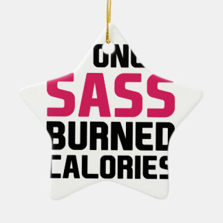 Sass Burns Calories Ceramic Star Decoration
