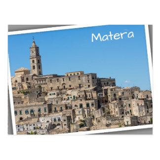 Sassi di Matera city in Italy Postcard