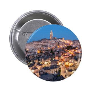 Sassi di Matera, Italy 6 Cm Round Badge
