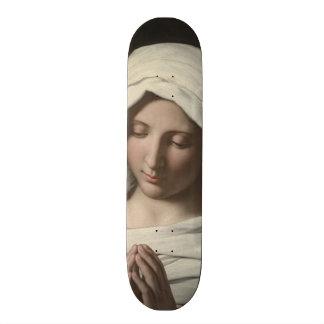 Sassoferrato - Madonna in prayer Skateboard