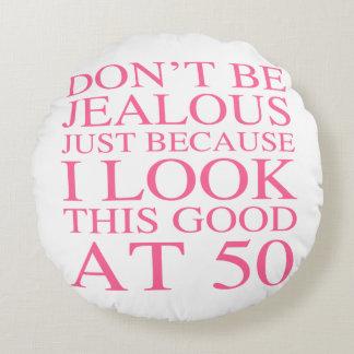 Sassy 50th Birthday For Women Round Cushion
