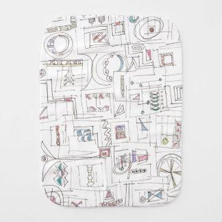 Sassy-Abstract Print Ink Drawing Burp Cloth