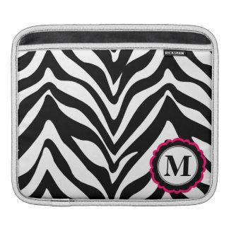 Sassy and Chic Zebra Stripes Monogram iPad Sleeves