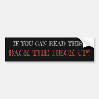 Sassy and Witty bumper stickers (black)