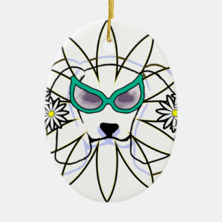 Sassy Beagle Ceramic Ornament