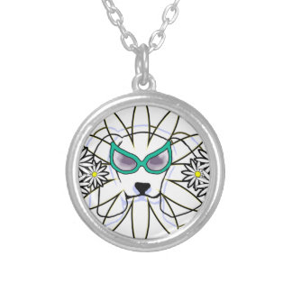 Sassy Beagle Silver Plated Necklace