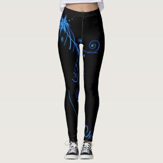 Sassy black & blue Leggings