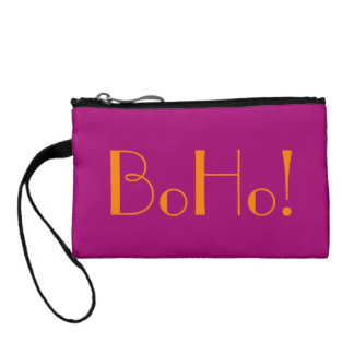 Sassy BoHo Flirt Pink Bagettes Tote Coin Wallets