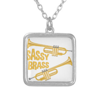 Sassy Brass Silver Plated Necklace