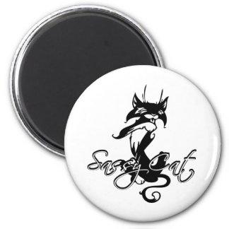 Sassy Cat 6 Cm Round Magnet