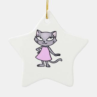 Sassy Cat Christmas Ornament