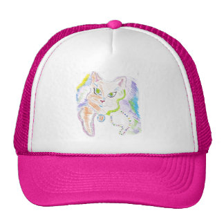 Sassy cat mesh hats