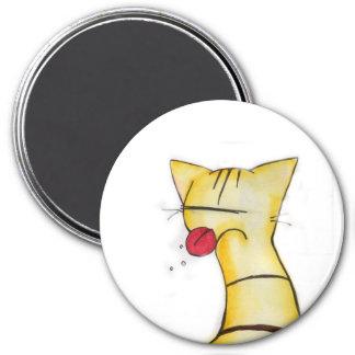 sassy cat 7.5 cm round magnet