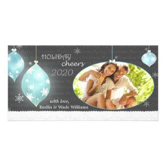 Sassy Christmas Ornaments New Couple Photo Card