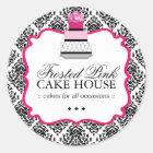 Sassy Damask Cake - Packaging Stickers