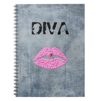 Sassy Diva Lips Notebook