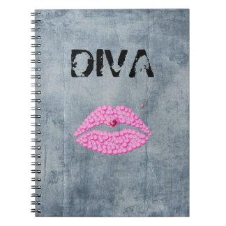 Sassy Diva Lips Notebooks