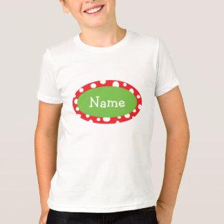 Sassy Dots Personalized Christmas T-Shirt