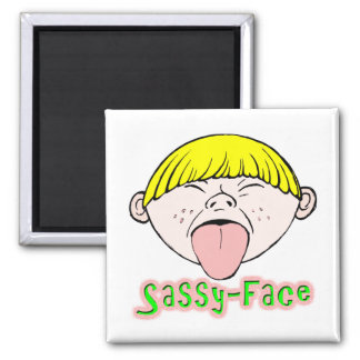 Sassy Face Boy Magnets