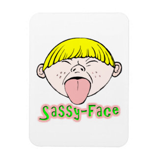 Sassy Face Boy Rectangle Magnet