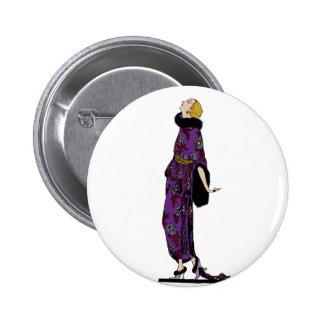 Sassy Flapper 6 Cm Round Badge