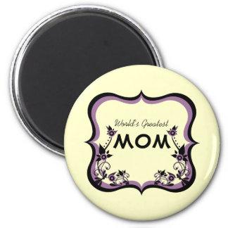 Sassy Floral World's Greatest Mom Magnet