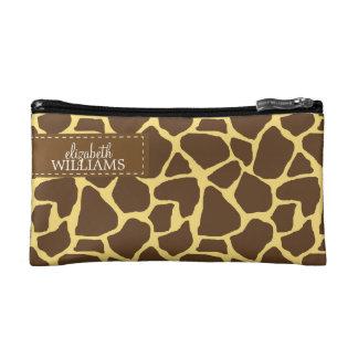 Sassy Giraffe Pattern Makeup Bag