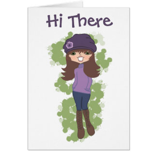 Sassy Girl Note Card, Stand. white envelopes incl. Card