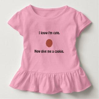 Sassy girl's ruffled t-shirt