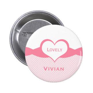 Sassy Heart Fishnet Button, Pink