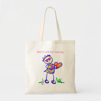 SASSY Hearts are for sharing Budget Tote