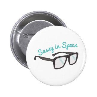 Sassy In Specs 6 Cm Round Badge