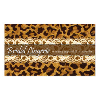 Sassy Lace Leopard Bridal Lingerie Lacy Garter Business Card Template