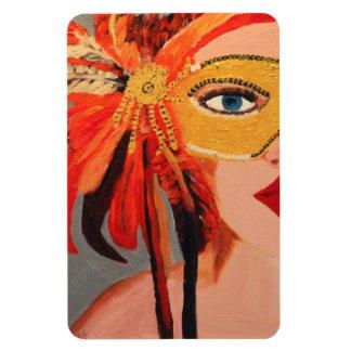 Sassy lady rectangular photo magnet