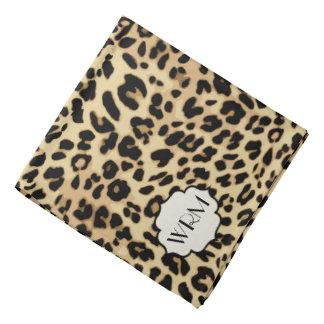 Sassy Leopard Print Monogrammed Bandana