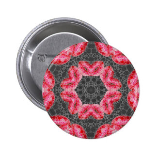 Sassy Lips Abstract 2 Inch Round Button